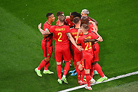 ST PETERSBURG, RUSSIA - JUNE 12 :  players of Belgium celebrating the 1-0  pictured during the 16th UEFA Euro 2020 Championship Group B match between Belgium and Russia on June 12, 2021 in St Petersburg, Russia, 12/06/2021  <br /> Photo Photonews / Panoramic / Insidefoto <br /> ITALY ONLY