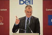 October 1st 2012 - Montreal, Quebec, CANADA - <br /> Peter D. Simons, C.Q., President & CEO - La Maison Simons inc., at the Canadian Club of Montreal's podium.<br /> <br /> Peter Simons oversees a thriving company of 2,000 employees with seven stores in Quebec and a state-of-the-art distribution centre.