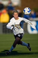 Notre Dame Fighting Irish defender Julie Scheidler (25). The North Carolina Tar Heels defeated the Notre Dame Fighting Irish 2-1 during the finals of the NCAA Women's College Cup at Wakemed Soccer Park in Cary, NC, on December 7, 2008. Photo by Howard C. Smith/isiphotos.com