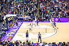 April 1, 2018; Arike Ogunbowale (24) shoots the game winning shot at the Women's Basketball Final Four Championship Game. Notre Dame defeated Mississippi State 61-58. (Photo by Matt Cashore/University of Notre Dame)