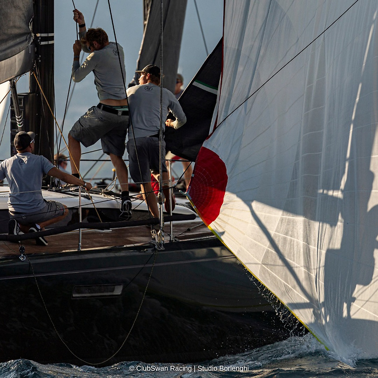 TheNational Yacht Club's Will Byrne and Howth  sailmaker Shane Hughes (fromNorth Sails Ireland) were racing on Mathilde in the Club Swan 50 division