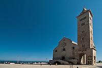 Trani è un comune italiano di 55.842 abitanti capoluogo insieme a Barletta ed Andria, della provincia di BAT (Barletta-Andria-Trani), in Puglia.<br /> È nota città d'arte per le bellezze artistiche ed architettoniche. La città è situata sulla costa adriatica 43 km a nord di Bari, ad un'altitudine di 7 metri sul livello del mare. <br /> Riguardo alle sue origini, alcuni ritrovamenti archeologici (tracce di insediamenti abitativi dell'Età del Bronzo a Capo Colonna) attestano le sue origini preistoriche, ma le tracce più concrete arrivano non prima della conquista dei Romani. Dopo la caduta dell'Impero Romano iniziò in Puglia il periodo bizantino, caratterizzato da una pausa di dominazione longobarda e dalle minacce continue provenienti dal mare ad opera dei Saraceni. Fu comunque il Medioevo il periodo d'oro della città. Nel 1042 Trani venne scelta come sede di una delle dodici baronie in cui venne divisa la Contea di Puglia: assegnata al conte Pietro, venne espugnata solo diversi anni dopo. In questo periodo la città godette di un certo grado di autonomia, dovuto al controllo ormai formale da parte dei governatori bizantini e alle lotte di potere tra i diversi rami della famiglia Altavilla. Trani cadde definitivamente sotto il dominio normanno nel 1073, dopo 50 giorni di assedio, per mano di Roberto il Guiscard. Fu in questo periodo, corrispondente alla prima crociata, precisamente nel 1099, che nella città si iniziarono i lavori per la costruzione della cattedrale in onore del santo patrono San Nicola pellegrino, un giovane greco in viaggio verso Roma che morì a Trani, dopo diversi giorni di malattia ed alcuni miracoli, e canonizzato subito dopo a furor di popolo. Già allora aveva grande importanza il porto, che sarà in seguito punto di partenza e di ritorno di diverse crociate.<br /> La Cattedrale di Trani (conosciuta anche come Cattedrale di San Nicola Pellegrino) è la costruzione più prestigiosa della città pugliese. Si tratta di un esempio di architettura romanic