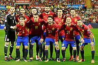 Spain's team photo with David De Gea, Sergio Ramos, Saul Niguez, Gerard Pique, Thiago Alcantara, Koke Resurreccion, Alvaro Odriozola, Rodrigo Moreno, Isco Alarcon, David Jimenez Silva and Jordi Alba during FIFA World Cup 2018 Qualifying Round match. October 6,2017.(ALTERPHOTOS/Acero) /NortePhoto.com /NortePhoto.com