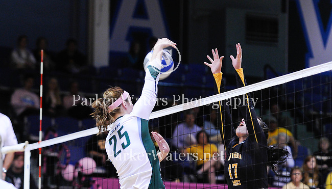 Tulane women's volleyball defeats So. Miss, 3-0.