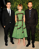NEW YORK CITY, NY, USA - NOVEMBER 03: Lazaro Hernandez, Anna Wintour, Jack McCollough arrive at the 11th Annual CFDA/Vogue Fashion Fund Awards held at Spring Studios on November 3, 2014 in New York City, New York, United States. (Photo by Celebrity Monitor)