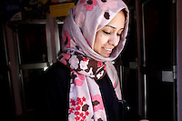Sarah Jamal Ahmed, a 24 year old sociologist who was one of the activists leading the charge on Change Square in Sana'a.