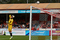 Glenn Morris of Crawley Town watches a shot go over the bar during Crawley Town vs Sutton United, Sky Bet EFL League 2 Football at The People's Pension Stadium on 16th October 2021