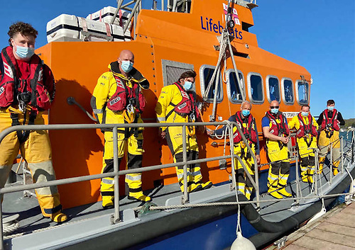 Courtmacsherry RNLI's crew masked up and ready to respond