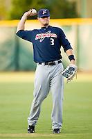Right fielder Matt LaPorta (3) of the Huntsville Stars throws between innings at the Baseball Grounds in Jacksonville, FL, Thursday June 12, 2008.
