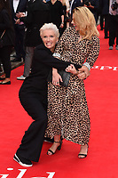 """Emma Thompson and Hayley Atwell<br /> arriving for the premiere of """"The Children Act"""" at the Curzon Mayfair, London<br /> <br /> ©Ash Knotek  D3420  16/08/2018"""