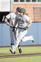 Eastern Michigan Eagles outfielder Mike Mioduszewski (15) rounds third base after hitting a home run during the NCAA baseball game against the Michigan Wolverines on May 16, 2017 at Ray Fisher Stadium in Ann Arbor, Michigan. Michigan defeated Eastern Michigan 12-4. (Andrew Woolley/Four Seam Images)