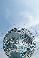 AVAILABLE FROM JEFF AS A FINE ART PRINT.<br /> <br /> AVAILABLE FROM PLAINPICTURE FOR COMMERCIAL AND EDITORIAL LICENSING.  Please go to www.plainpicture.com and search for image # p5690130<br /> <br /> The Unisphere, Flushing Meadow Corona Park, Queens, New York City, New York State, USA