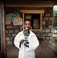 Feleke Shalachewu, 10, wants to be a doctor when he grows up.