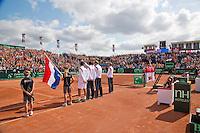 15-09-12, Netherlands, Amsterdam, Tennis, Daviscup Netherlands-Suisse, Lineup Presentation