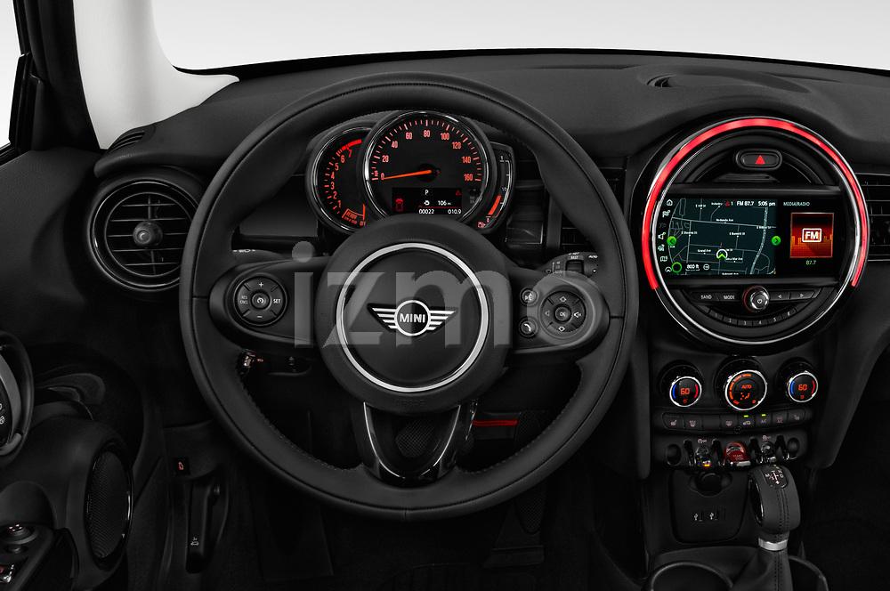 Car pictures of steering wheel view of a 2019 Mini Cooper Hardtop 2 Door 3 Door Hatchback