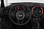 Car pictures of steering wheel view of a 2019 Mini Cooper Hardtop 2 Door 3 Door Hatchback