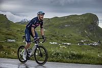 Jonas Rickaert (BEL/Alpecin Fenix) up the Cormet de Roselend<br /> <br /> Stage 9 from Cluses to Tignes (144.9km)<br /> 108th Tour de France 2021 (2.UWT)<br /> <br /> ©kramon