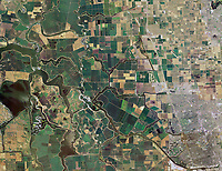 aerial map of the San Joaquin river delta, California