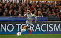 Calcio, andata degli ottavi di finale di Champions League: Roma vs Real Madrid. Roma, stadio Olimpico, 17 febbraio 2016.<br /> Real Madrid's Dani Carvajal in action during the first leg round of 16 Champions League football match between Roma and Real Madrid, at Rome's Olympic stadium, 17 February 2016.<br /> UPDATE IMAGES PRESS/Riccardo De Luca