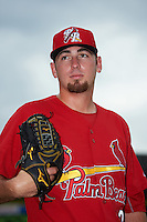 Palm Beach Cardinals pitcher Austin Gomber (31) poses for a photo before a game against the Dunedin Blue Jays on April 15, 2016 at Florida Auto Exchange Stadium in Dunedin, Florida.  Dunedin defeated Palm Beach 8-7.  (Mike Janes/Four Seam Images)