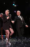 Ann Reinking and Joel Grey during the landmark performance of 'Chicago' as it becomes the 2nd longest show in Broadway History at the Ambassador Theatre on November 23, 2014 in New York City.