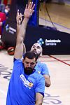 League ACB-ENDESA 2020/2021.Game 15.<br /> FC Barcelona vs Club Joventut Badalona: 88-74.<br /> Nikola Mirotic & Nick Calathes.