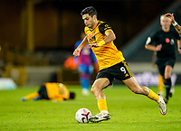 30th October 2020; Molineux Stadium, Wolverhampton, West Midlands, England; English Premier League Football, Wolverhampton Wanderers versus Crystal Palace; Raúl Jiménez of Wolverhampton Wanderers runs at the Crystal Palace defence