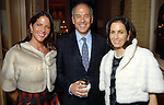 From left: Karen Pulaski with Mathew and Ann Wolf at a private dinner for David Yurman at the home of Becca Cason Thrash Wednesday Dec. 02,2009. (Dave Rossman/For the Chronicle)