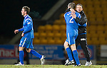St Johnstone v Inverness Caley Thistle....02.01.11  .Derek McInnes hugs Dave Mackay at full time.Picture by Graeme Hart..Copyright Perthshire Picture Agency.Tel: 01738 623350  Mobile: 07990 594431