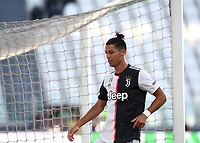 Calcio, Serie A: Juventus - Torino, Turin, Allianz Stadium, July 4, 2020.<br /> Juventus' Cristiano Ronaldo reacts during the Italian Serie A football match between Juventus and Torino at the Allianz stadium in Turin, July 4, 2020.<br /> UPDATE IMAGES PRESS/Isabella Bonotto