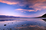 Badwater, lowest point in the western hemisphere (-282 ft), Death Valley National Park, California