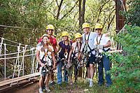 Family about to go Ziplining on the Big island with Kohala zipline