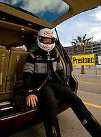 Oct. 31, 2008; Las Vegas, NV, USA: NHRA funny car driver Bob Bode during qualifying for the Las Vegas Nationals at The Strip in Las Vegas. Mandatory Credit: Mark J. Rebilas-