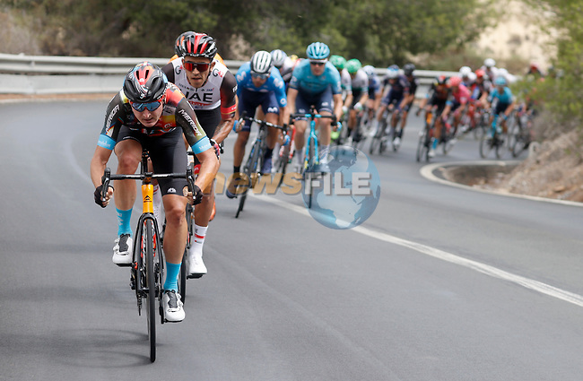 The peloton during Stage 9 of La Vuelta d'Espana 2021, running 188km from Puerto Lumbreras to Alto de Velefique, Spain. 22nd August 2021.     <br /> Picture: Luis Angel Gomez/Photogomezsport | Cyclefile<br /> <br /> All photos usage must carry mandatory copyright credit (© Cyclefile | Luis Angel Gomez/Photogomezsport)