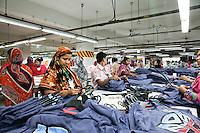 Female workers work at a garments factory in gazipur, near DHaka, Bnagladesh