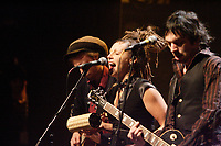 ethnic music group DOBACARACOL joins Stefie Shock <br />  on stage at the<br /> XM Radio First Anniversary at Club Soda in Montreal, January 30, 2007<br /> <br /> Photo : Pierre Roussel / Images Distribution