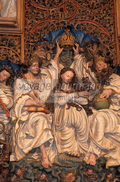 Europe/Allemagne/Forêt Noire/Burckheim : Eglise romane de Niederrotweil - L'autel baroque