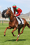 June 03, 2018, CHANTILLY, FRANCE - Waldgeist with Pierre-Charles Boudot up at parade canter for the Grand Prix de Chantilly (Gr. II) at Chantilly Race Course  [Copyright (c) Sandra Scherning/Eclipse Sportswire)]