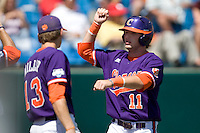 Clemson's Kyle Parker in Game 4 of the NCAA Division One Men's College World Series on Monday June 21st, 2010 at Johnny Rosenblatt Stadium in Omaha, Nebraska.  (Photo by Andrew Woolley / Four Seam Images)