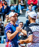 Paris, France, 28 May, 2019, Tennis, French Open, Roland Garros, Men's doubles: Matwe Middelkoop (NED) (L) and Tim Puetz (GER)<br /> Photo: Henk Koster/tennisimages.com