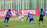 VALLEDUPAR - COLOMBIA, 11-09-2021: Valledupar F. C. y Orsomarso S. C. durante partido de la fecha 8 por el Torneo BetPlay DIMAYOR II 2021 en el estadio Armando Maestre Pavajeau en la ciudad de Valledupar. / Valledupar F. C. and Orsomarso S. C. during a match of the 8th date for the BetPlay DIMAYOR II 2021 Tournament at the Armando Maestre Pavajeau stadium in Valledupar city. / Photo: VizzorImage / Adamis Guerra / Cont.