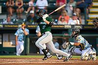 Daytona Tortugas Leonardo Seminati (17) bats during a game against the Bradenton Marauders on June 12, 2021 at LECOM Park in Bradenton, Florida.  (Mike Janes/Four Seam Images)