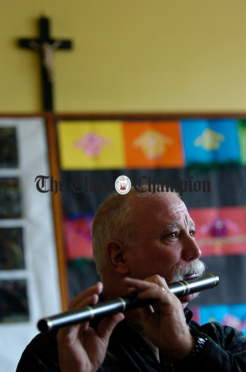 Marty Groody of USA in flute class during the Fleadh Nua in Ennis. Photograph by John Kelly.