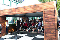 13th March 2020; Melbourne Grand Prix Circuit, Melbourne, Victoria, Australia; Formula One, Australian Grand Prix, Practice Day; Teams enter the pits