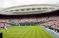22-6-09, Enland, London, Wimbledon, Het nieuwe schuifdak op het centercourt van Wimbledon