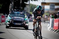 Emanuel Buchmann (DEU/BORA - hansgrohe)<br /> <br /> Stage 20 (ITT) from Libourne to Saint-Émilion (30.8km)<br /> 108th Tour de France 2021 (2.UWT)<br /> <br /> ©kramon
