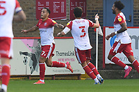 Elliott List of Stevenage FC scores the equaliser and celebrates during Stevenage vs Exeter City, Sky Bet EFL League 2 Football at the Lamex Stadium on 9th October 2021