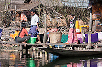 Myanmar, Burma.  Village Scene, Inle Lake, Shan State.  Intha Ethnic Group.