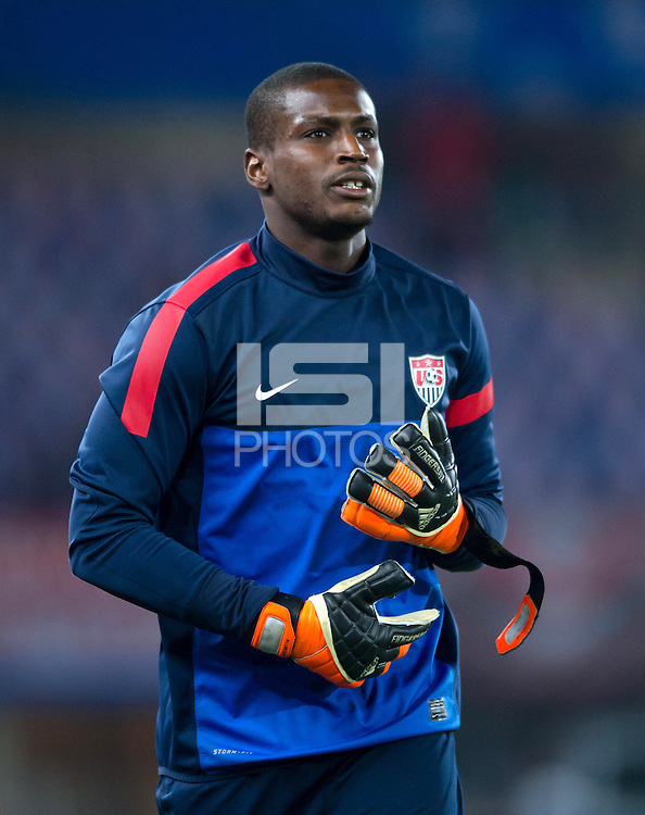 VIENNA, Austria - November 19, 2013: Bill Hamid during a 0-1 loss to host Austria during the international friendly match between Austria and the USA at Ernst-Happel-Stadium.