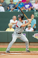 Joey Wendle (13) of the Carolina Mudcats at bat against the Winston-Salem Dash at BB&T Ballpark on July 25, 2013 in Winston-Salem, North Carolina.  The Mudcats defeated the Dash 5-4.  (Brian Westerholt/Four Seam Images)